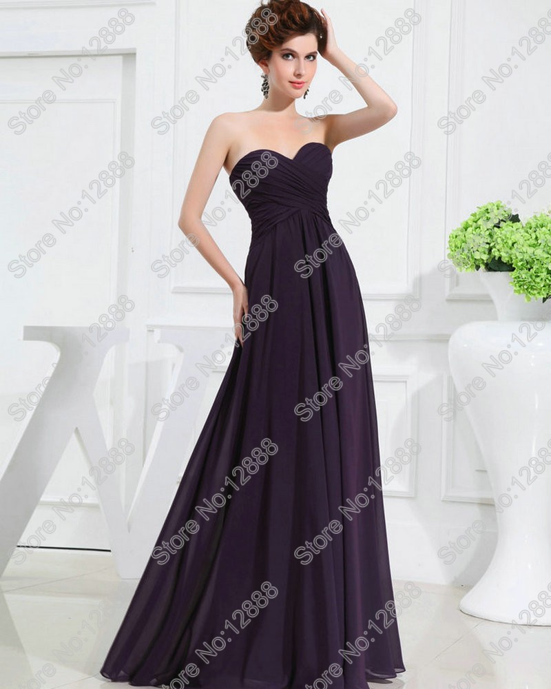 Bridesmaid dresses picture more detailed picture about real real model cheap wedding party dress 2017 chiffon empire bridesmaid dresses grape floor length gowns new ombrellifo Gallery