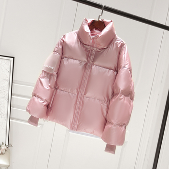 2019 Female Glossy Down Parka Winter Jacket Women Large Sizes Thick Down Jacket Loose White Duck Down Coat Waterproof Outerwear 3