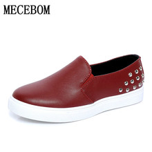 2016 Women Flats Women Weave Creepers Slip On Flats Casual Round Toe calzado mujer rivets loafers Women Shoes 2 Colors LF211W