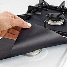 4 шт. Защитная крышка для плиты Съемная легкая чистка квадратная Фольга для газовой плиты Защитная подкладка для плиты защитный коврик
