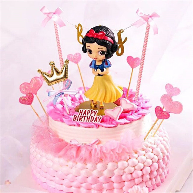 Toys Princess Surprised Birthday Party Gifts Cupcake Toppers 18 Supplies Snow White Cake Topper