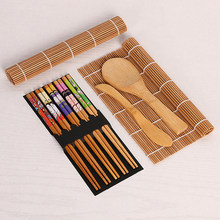 13 stks/set DIY Bamboe Sushi Maker Set Sushi gordijn Rijst Sushi Maken Kits Roll Koken Tools Eetstokjes Lepel Sushi blade(China)