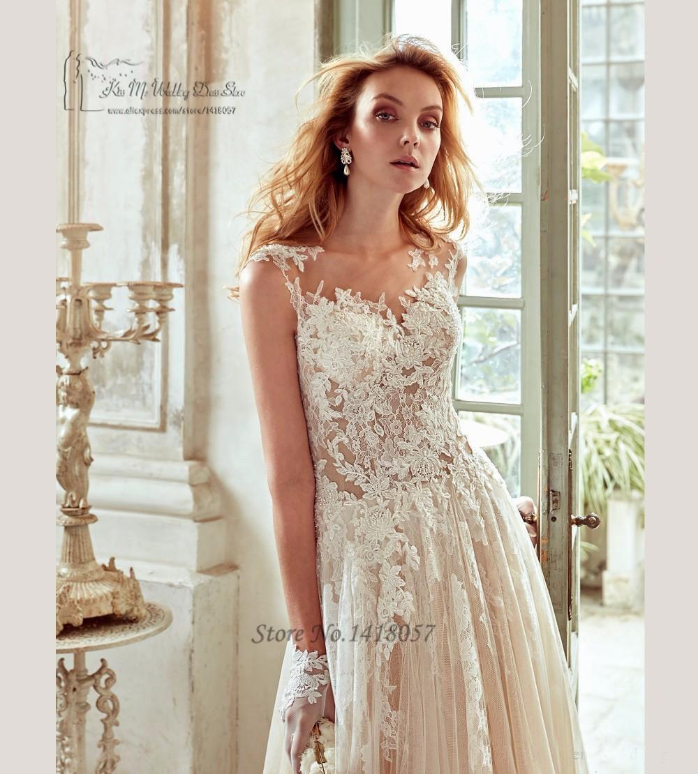 Champagne Boho Hochzeitskleid Made in China Günstige Brautkleid eine ...