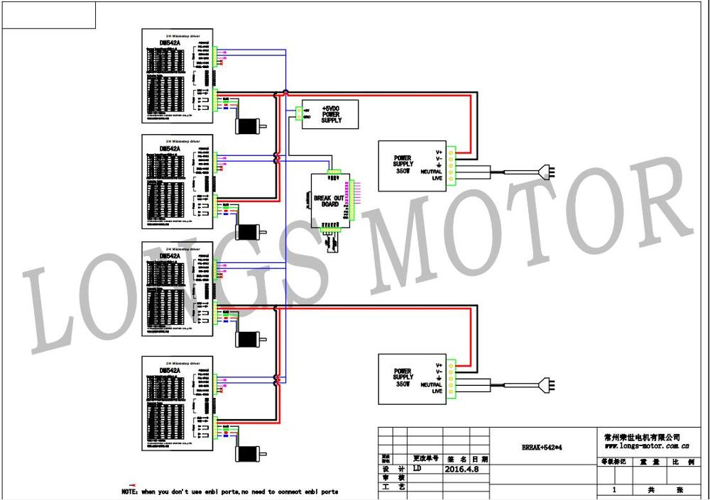 stepper motor 4axis nema 23 425oz in 23hs9430 3a stepper driver rh aliexpress com Schematic Circuit Diagram Basic Electrical Wiring Diagrams