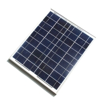 Wholesale 10PCS/Lot 20W 18V Polycrystalline Silicon Glass Surface Solar Panel For 12V Photovoltaic Power Home System With Cable