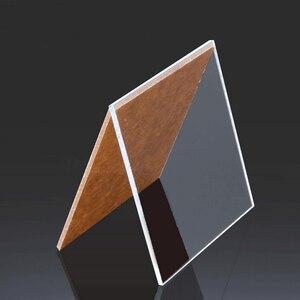 Lámina de plástico transparente de plexiglás, placa acrílica de vidrio orgánico, polimetacrilato de 1mm, 3mm, 8mm de grosor, 200x200mm