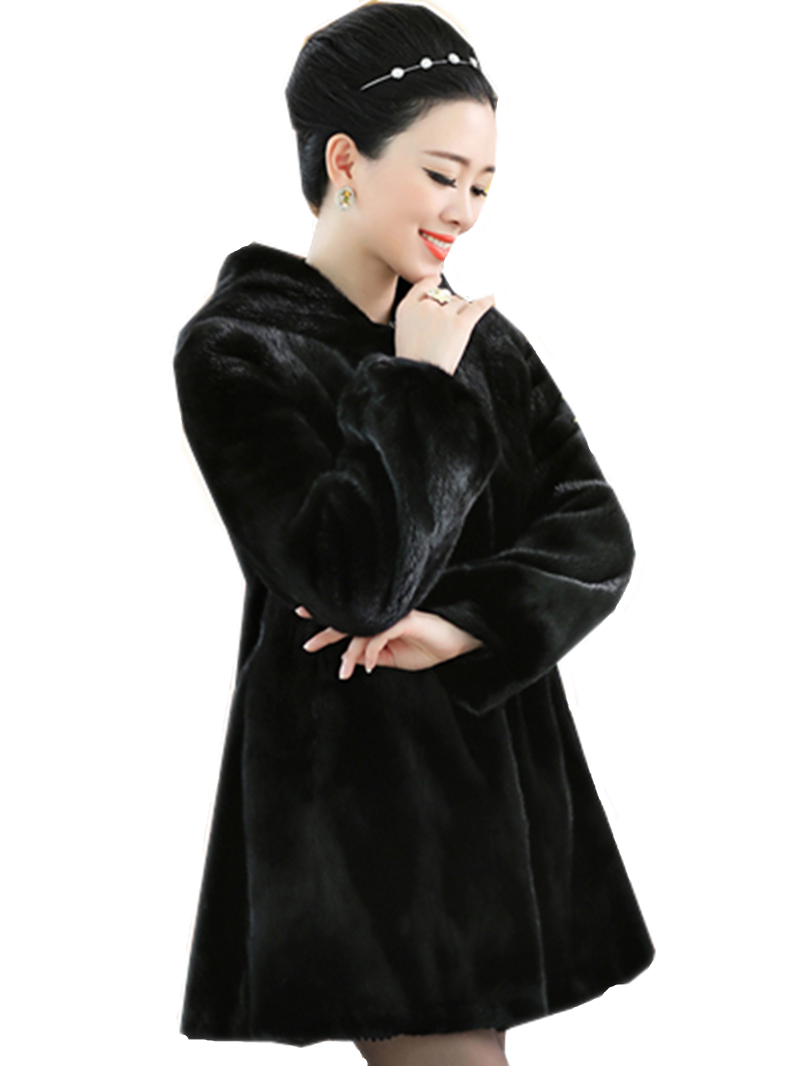 2019 europski prozračni krzneni kaputić zimske žene osnovni kaput - Ženska odjeća - Foto 2