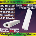 ChineseFirmware 4G301 TENDA Беспроводной 300 Мбит/С 3 Г 4 Г Портативный Маршрутизатор 300 М Путешествия Wi-Fi Внутренний 5200 мАч Питания банк TD/FDD-LTE Модем
