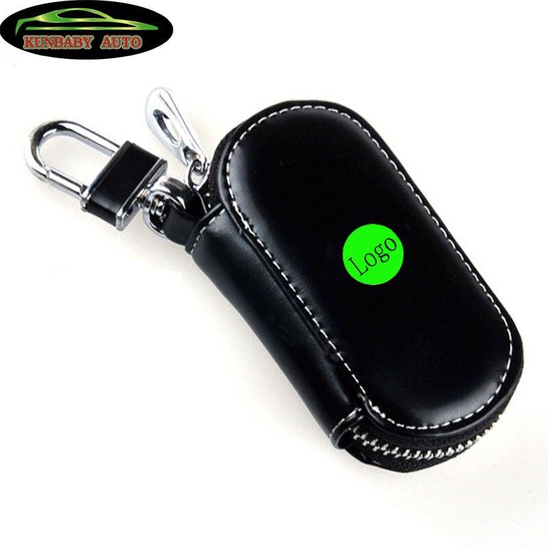 KUNBABY 10 Pcs lot Genuine Leather Key Wallet Men Keychain Covers Zipper Key Case Bag Woman