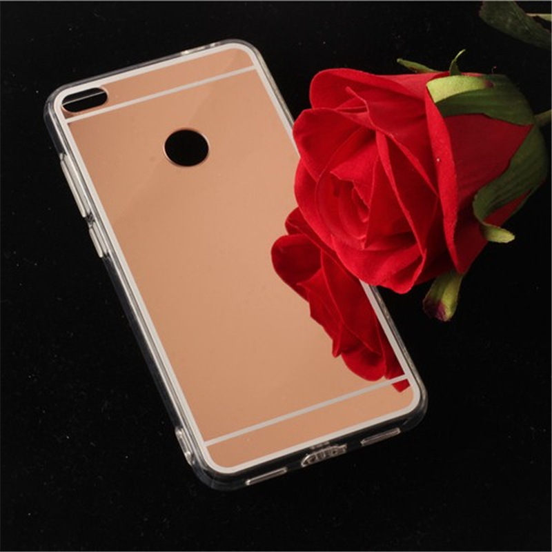 online retailer 31d99 1021d US $1.98 29% OFF|TENENELE Fashion Silicone Soft Case For Huawei P8 Lite  2017 Mirror Cover Make UP Coque Fundas phone For Huawei P8Lite 2017  Cases-in ...