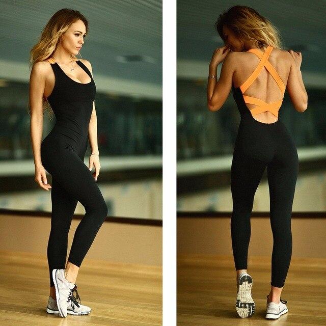 One Piece Yoga Bandage Pants Trousers Women Sexy Leggings Fitness