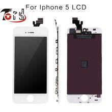 5 PCS/LOT 100% Grade AAA Marque Nouvelle pour iphone 5 5g Écran lcd écran tactile avec digitizer remplacement assemblée pièces livraison LE BATEAU