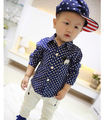 New Casual Kids Shirts  Boy Mouse Long SleeveShirts Boy Mickey Polka Dot Long Sleeve Thick Shirts For 1-6 Years Old