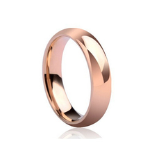 Fashion 18k Rose Gold Plated for Men And Women 6mm Wide wedding Ring Enviromental Anti Allergies USA SIZE
