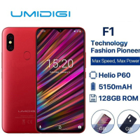 Umidigi F1 6.3 Waterdrop Fhd+ Display Helio P60 Android 9.0 4gb Ram 128gb Rom 5150mah 18w Fast Charge Smartphone Nfc 16mp Phone