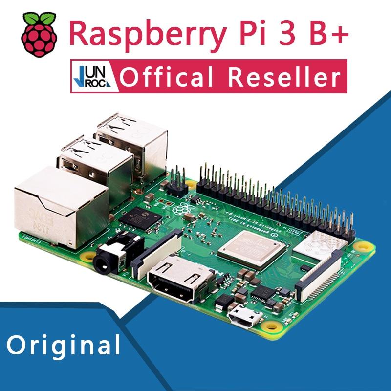 Original Officiel Framboise Pi 3 Modèle B + Plus Pi 3B + Linux Démo Conseil Python Programmation Mini PC