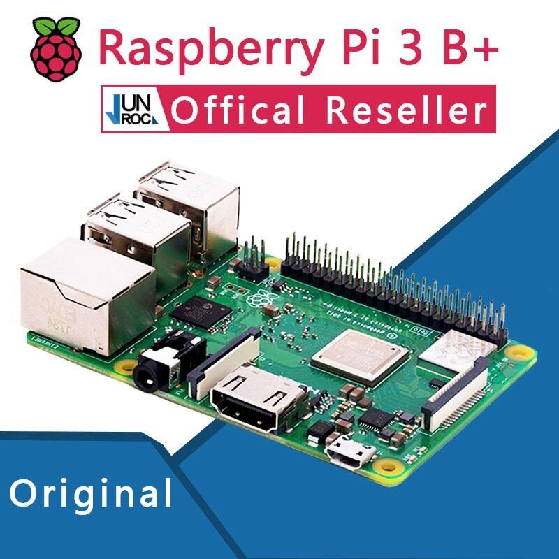 Original Oficial 3 Raspberry Pi Modelo B + Plus Pi 3B + Placa de Demonstração de Programação Python Linux Mini PC