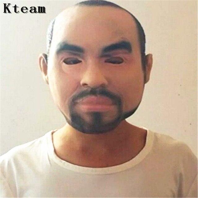 2017 Neue Beckham Maske Haube Overhead Perücken Bart Menschlichen