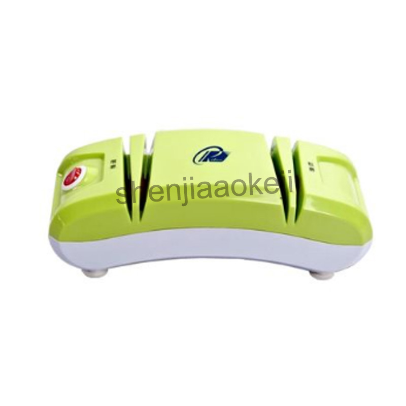 220v60w 1pc Household Multifunctional electric knife sharpener automatic electric fast knife sharpener Grind knife machine z 102 automatic knife maintenance sharpener green golden grey
