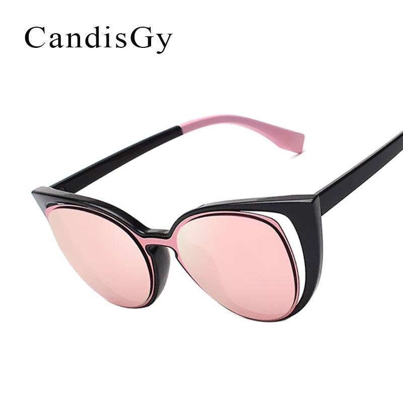 Cat eye Women Sunglasses Small Pink Fashion Brand Designer Mirror UV400 Eyewear Lady Sun Glasses Female