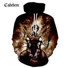 Tokyo ghoul classic film 3D hoodie print hoodie fashion street punk pullover new fall 2019 sportswear pullover Japanese anime trees sunset 3d print pullover hoodie