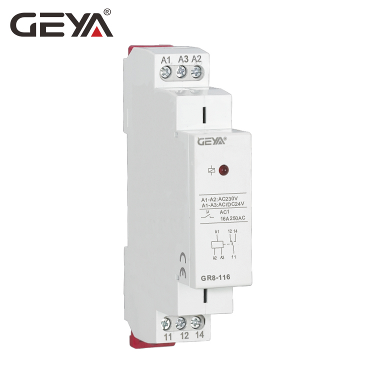 GEYA GR8 AC DC 12V Intermediate Relay Auxiliary Relay 8A 16A SPDT RELAYS 10 pcs car spdt 5 pin 1no 1nc green indicator relay ceramic socket 80a 12v dc