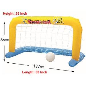 Image 4 - Надувной бассейн поплавок игрушки для взрослых детей футбол волейбол баскетбол Игры круг плавательный круг водный матрас Вечерние