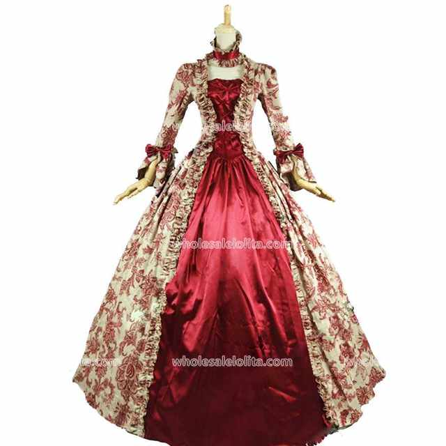 Top Sale Georgian Victorian Dress Gothic Period Prom Gown Wedding Reenactment Theatre Clothing