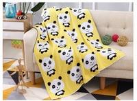 Cartoon Panda Knitted Blanket Handmade Knitted TV Office Lunch Break Sofa Blanket Kids Adult Baby crocheted Bedding Throws