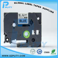 10 packs TZe-541 18mm Black on blue TZ-541 compatible label tapes for ptouch label printers
