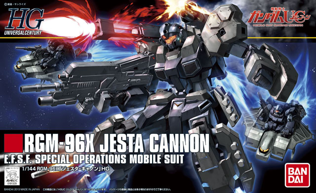 1PCS bandai 1/144 HGUC 152 1/144 RGM-96K JESTA CANNON Gundam Mobile Suit Assembly Model Kits Anime action figure lbx toys стоимость