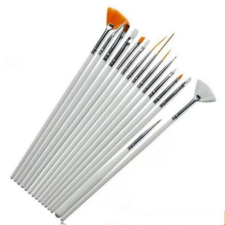 15st Akvarellborste Aquarellefärg Trähandtag Dragkrok Line Pen Nail - Konst, hantverk och sömnad - Foto 2