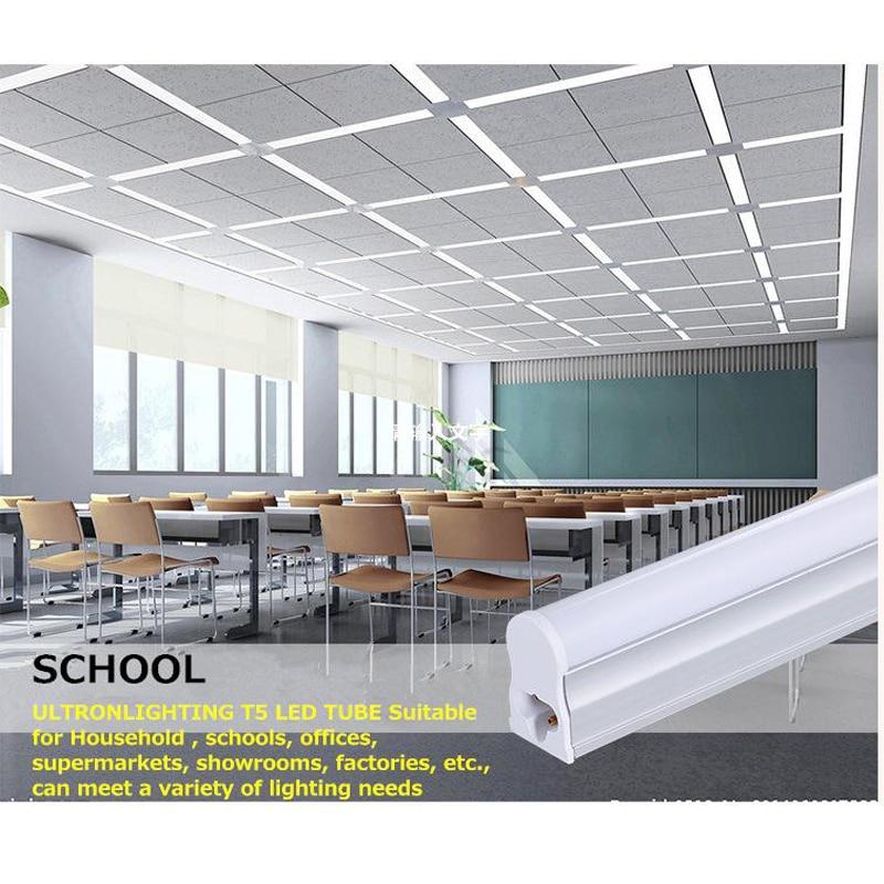 Купить с кэшбэком 5Pcs/Lot LED T5 Tube Super Brightness Replace of Traditional Fluorescent Energy Saving T5 T8 60CM 2 Feet LED Fixture Dynasty