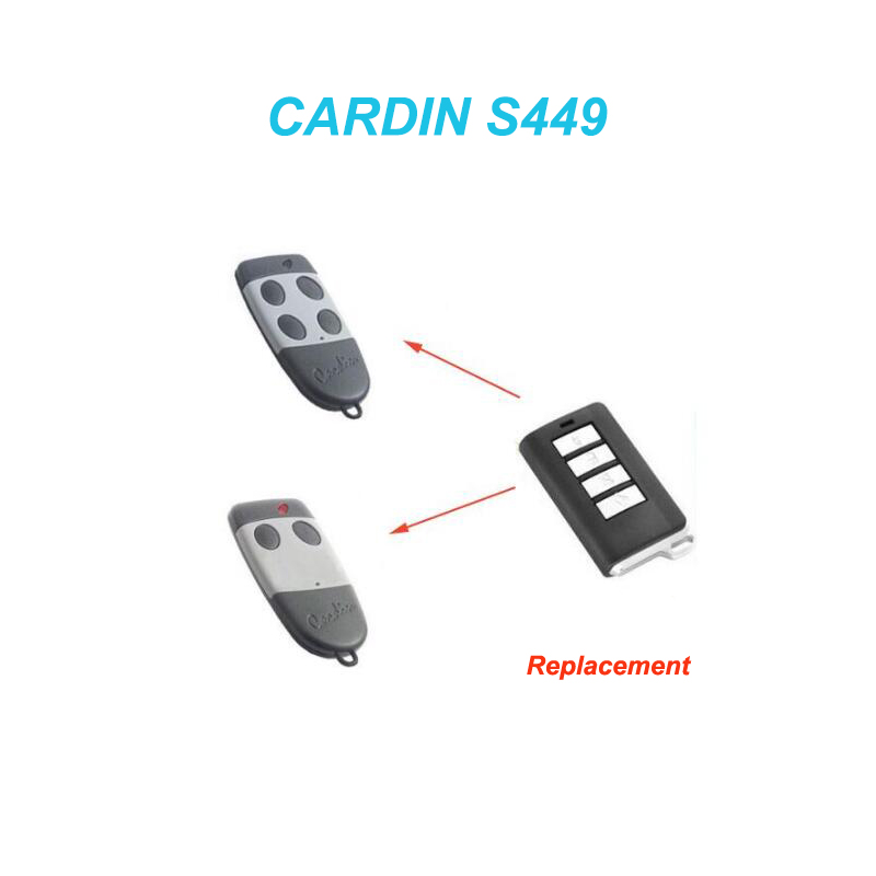 Cardin S449 Replacement Remote Control Rolling Code 433mhz  For CARDIN S476-TX2,S476-TX4 Garage Door Remote Command