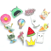 1 PC Kawaii Icons on The Pin Acrylic Badges Cartoon Icons on The Backpack Badges for Clothing Cartoon Badge