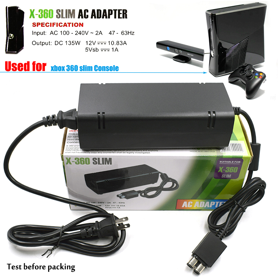 все цены на 100~240V 135W AC Adapter Power Supply for Xbox 360 S, 360 Slim Charger Charging for Microsoft xbox 360 XBOX360 S Slim Host онлайн