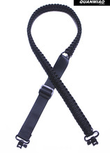 Brand new / Adjustable Paracord Rifle Gun Sling Strap With Swivels Hunting accessories /All Black