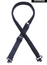 Купить с кэшбэком Brand new / Adjustable Paracord Rifle Gun Sling Strap With Swivels / Hunting accessories /All Black