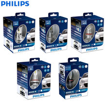 Philips X-treme Ultinon LED H4 H7 H8 H11 H16 9005 9006 HB3 HB4 12V 6000K Car LED Head Light Auto Fog Lamps +200% Brighter (Twin)(China)