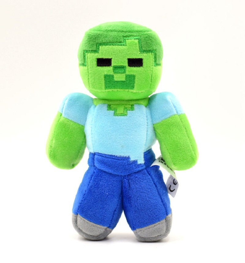 New Arrival Minecraft Plush Toys Steve Creeper Zombie Stuffed Dolls Toys Ghast Spider Bat Cow Animals