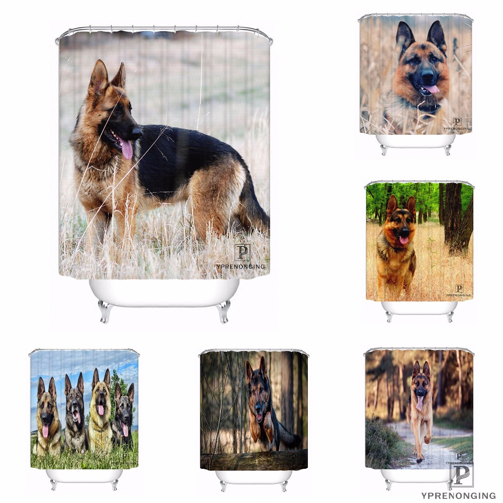Custom German Shepherd Dog Waterproof Shower Curtain Home Bath Bathroom s Hooks Polyester Fabric Multi Sizes#180421-Sina-08