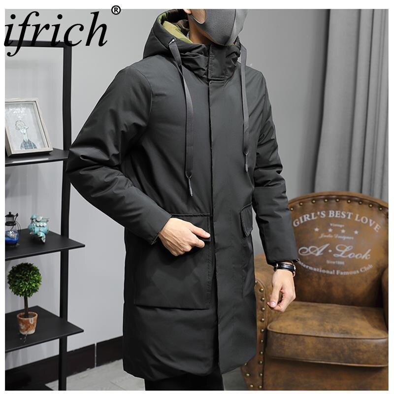 Nouveauté Hiver Longue Veste En Coton Épais Mâle Haute Qualité décontracté Mode Parkas Coton Manteau Hommes Marque Vêtements Camouflage