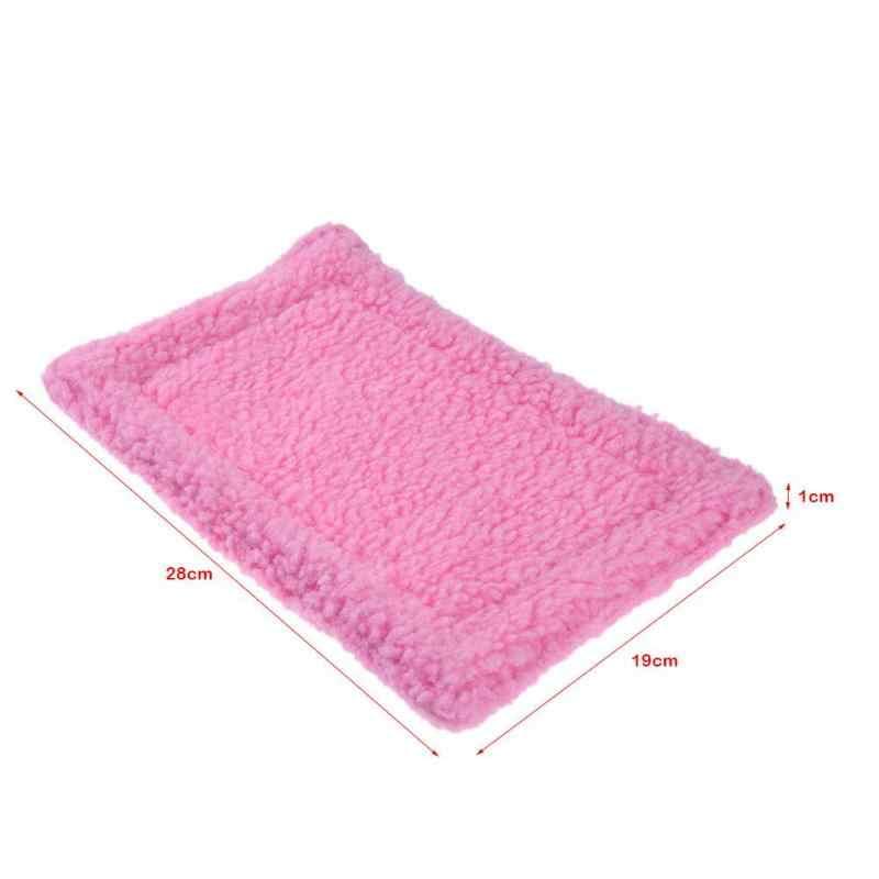 Miękka polarowa mata chomika pluszowa poduszka dla chomika mata jeż wiewiórka ciepły koc świnka morska łóżko łóżko produkty dla zwierzaka domowego