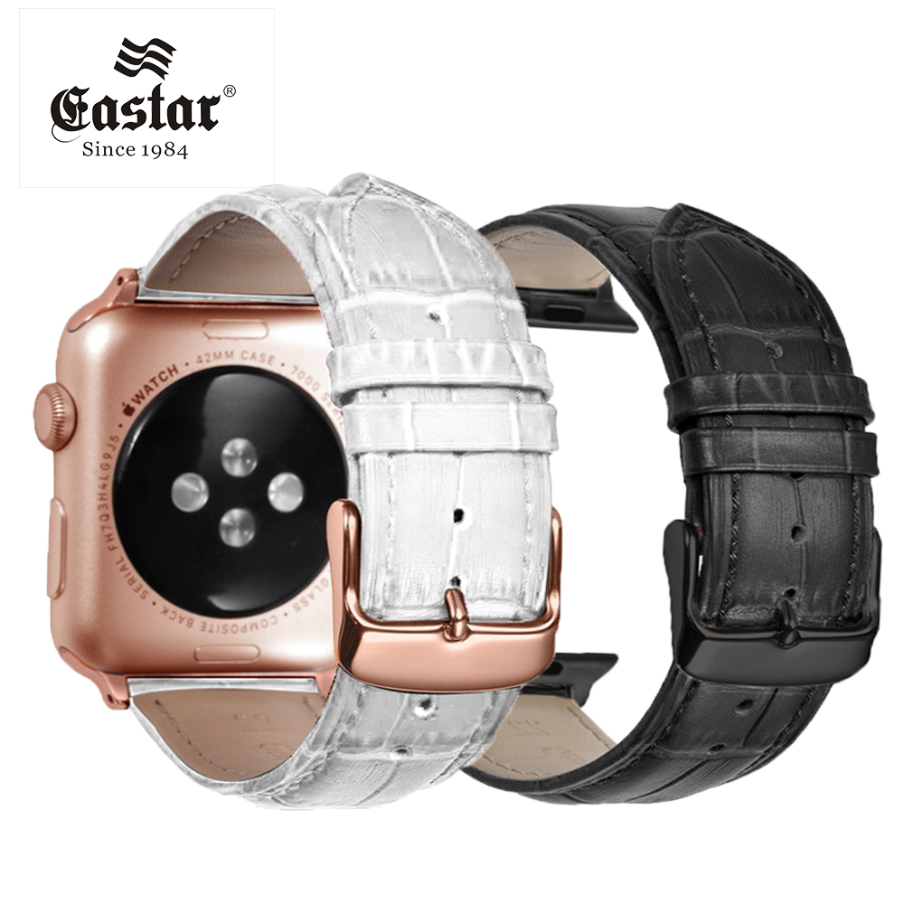 Eastar Pink Black Buckle Watchband for Apple Watch Band Series 3/2/1 Sport Leather Bracelet 42 mm 38 mm Strap For iwatch Band цена