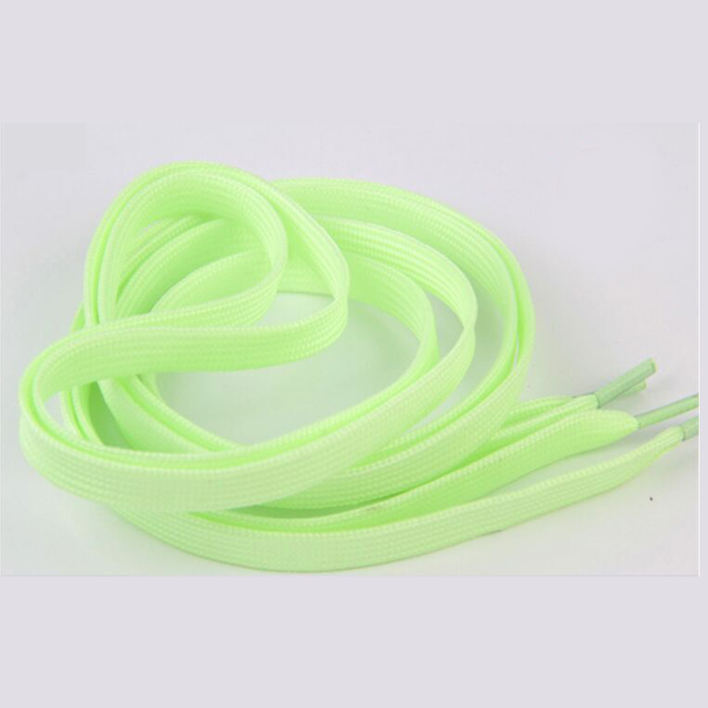 1 Pair 60cm Flat Reflective Luminous Shoe Laces Safety Glowing Runner Elastic Shoelaces Unisex for Sport Sneakers Canvas Shoes 3