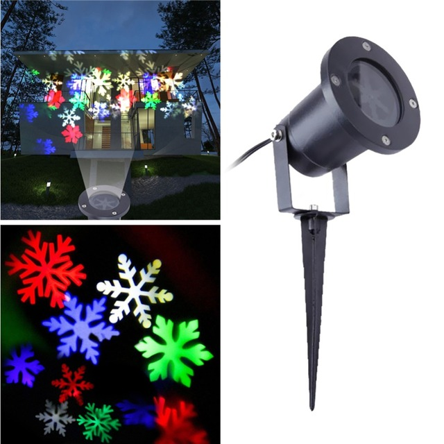 Christmas Laser Projector Lamps LED Stage Light Colorful Snow Image Christmas Party Landscape Light Garden Lamp Outdoor Lighting