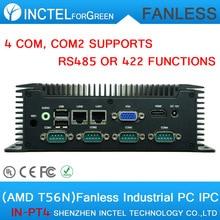 Безвентиляторный Встраиваемый Компьютер с AMD T56N МПК 4 COM 2 Gigabit Lan Low power DC 12 V COM2 поддерживает RS485 RS422 особенности