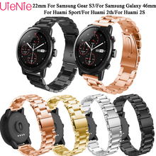 22mm aluminum alloy band For Samsung Gear S3/Galaxy 46mm Frontier/Classic bracelet Strap for Huami 2S/2th/Sport smart watch Band