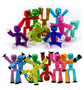 Figures Stikbot-Toys Plastic Animals with Sucker-Deformable 5/10/20pcs/set 8cm