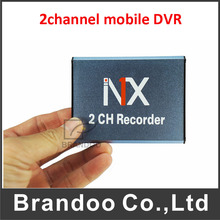 Mini CCTV 2CH SD Real Time Mobile Card DVR Digital Video Recorder Home/Car/Bus